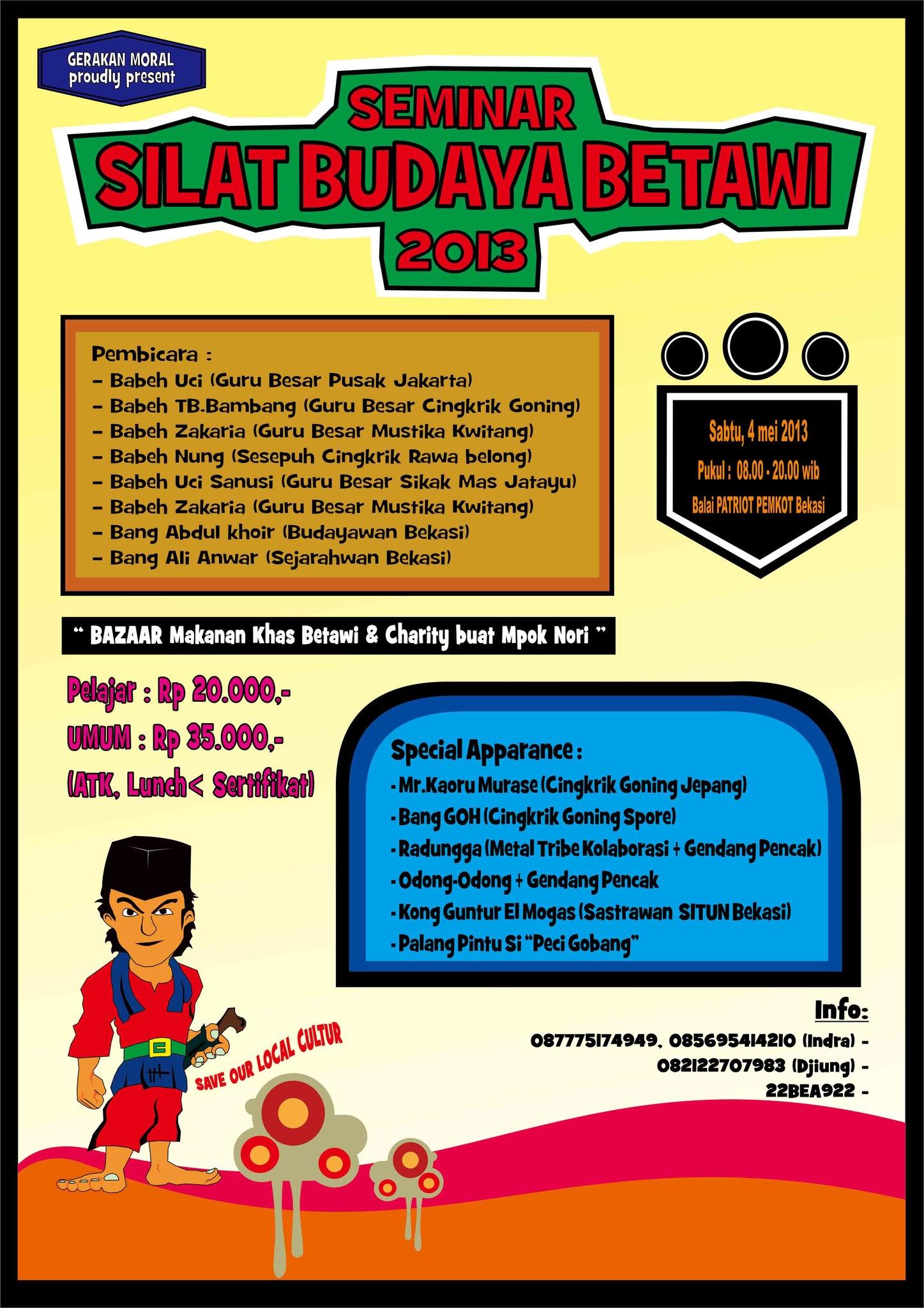 Seminar Silat Budaya Betawi 2013