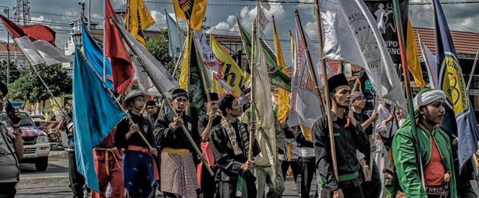 Pawai Akbar  Jambore Pencak Nusantara 2015