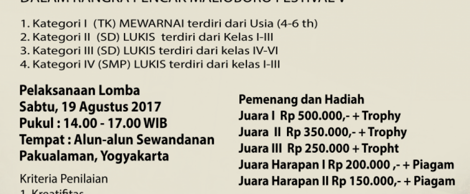 Lomba Lukis Anak pmfd 2017 1